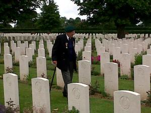 Ted Owens at Bayeux War Cemetery