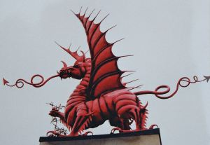 The Welsh Dragon memorial at Mametz Wood