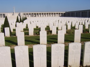 Lines of graves at Pozieres.