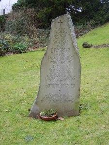 'Cardiff Blitz' memorial stone