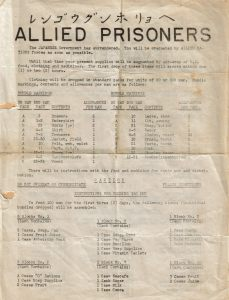 This leaflet was dropped to Allied PoWs in Japan after the Japanese surrender.